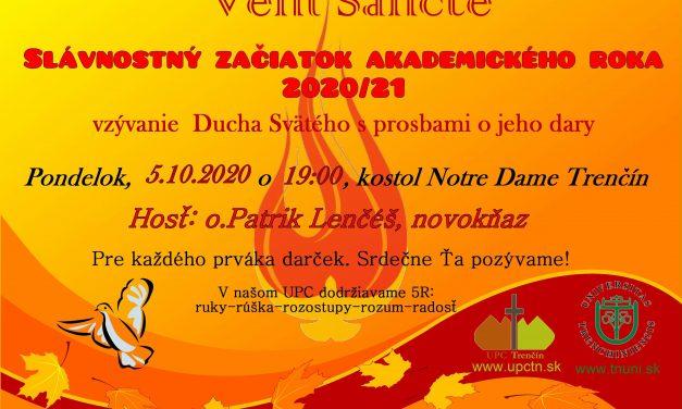 Pozvánka na Slávnosť VENI SANCTE